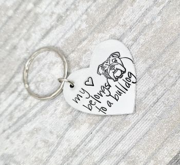 My Heart Is Love By... Dog Keyring - 14 designs to choose from.