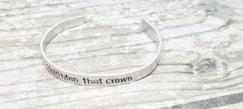 Straighten that crown - Cuff bracelet (silver coloured)