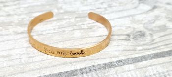 You are loved  - Cuff Bracelet (rose gold coloured)