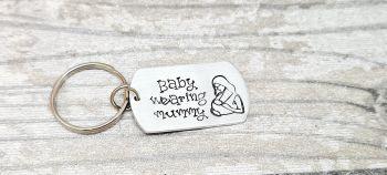 Baby wearing mummy Keyring