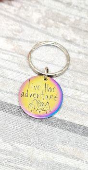 Live the adventure - Rainbow keyring