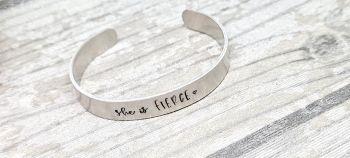She is fierce - Cuff bracelet (silver coloured)