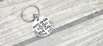 Mums are like buttons.. Keyring