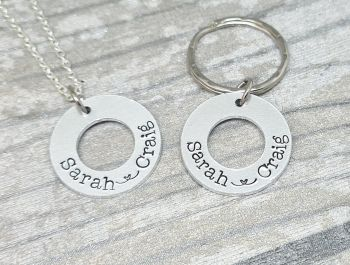 Love Link Washer Keyring/Necklace