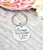 Always remember i love you Keyring