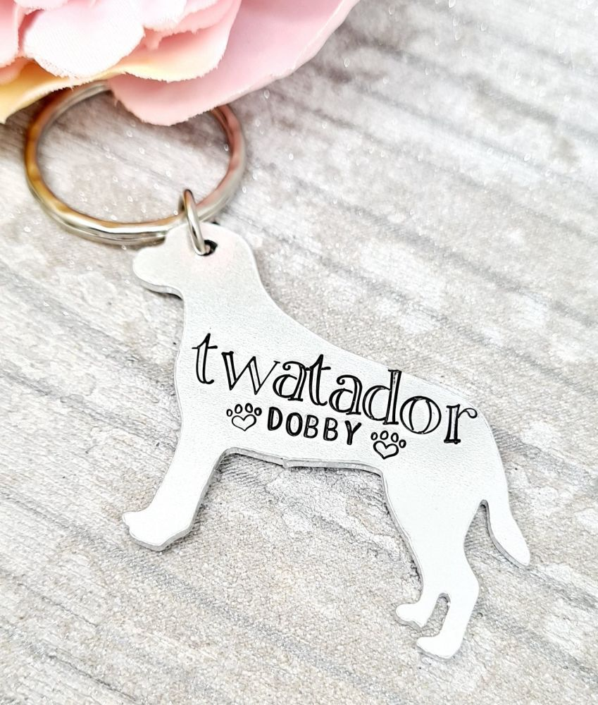 Twatador - Personalised - Name Keyring