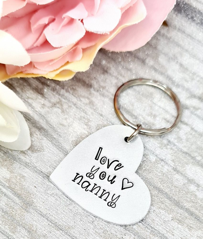 Love You Keyring - For all family members, with gift note.