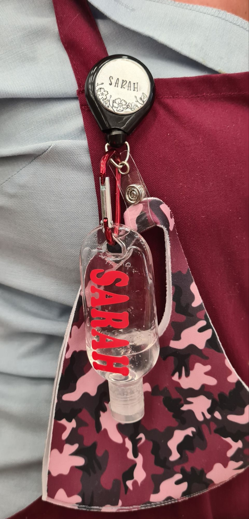 Lanyard & Hand Sanitiser Bottles Personalised