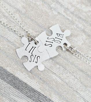 Lil Sis & Big Sis Puzzle Necklaces