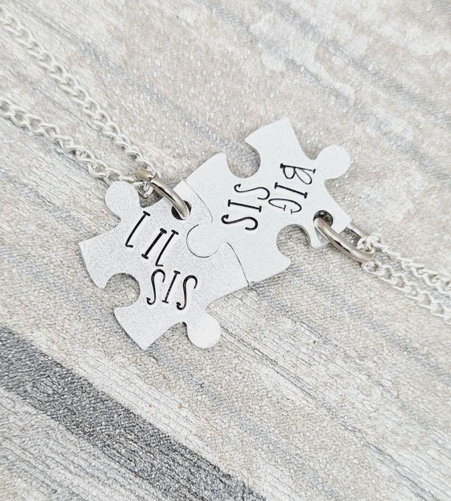 Lil Sis & Big Sis PuzzleNecklaces