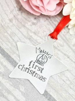 Baby's First Christmas 2020 -  Personalised Christmas Decoration