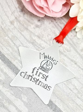 Baby's First Christmas 2019 -  Personalised Christmas Decoration