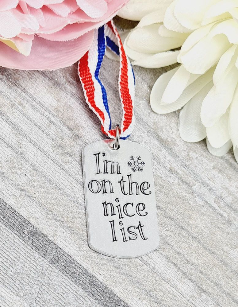I'm on the Nice List - Medal