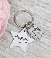 Family Star Keyring with personalised boy/girl charms