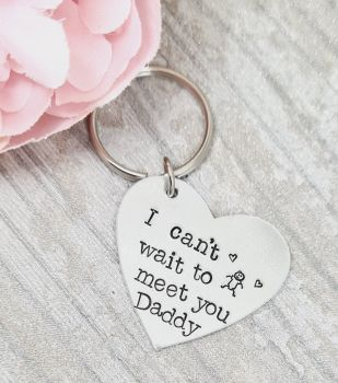 I cant wait to meet you. Family keyring - any family member.