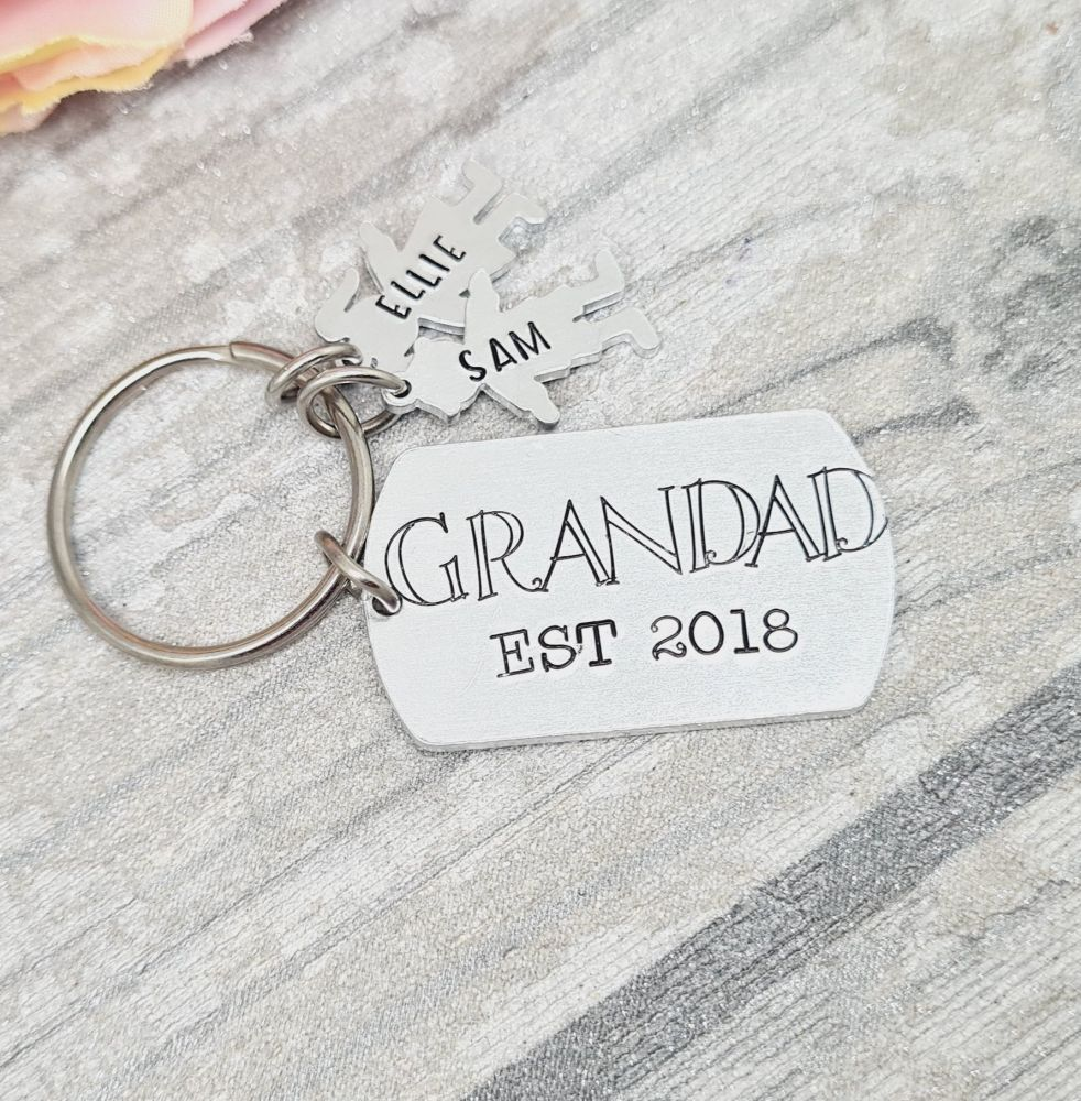 Family EST Keyring with charms
