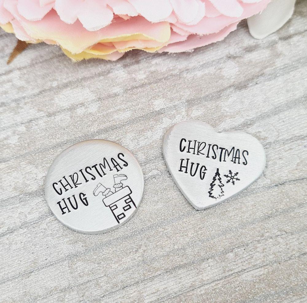 Christmas Hug - Pocket Hug - Available in 2 different designs.