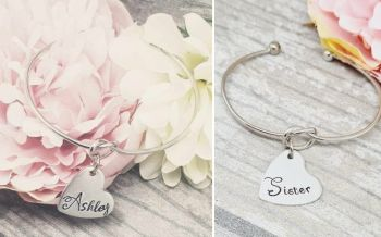 Knot Bangles - Personalised with Name