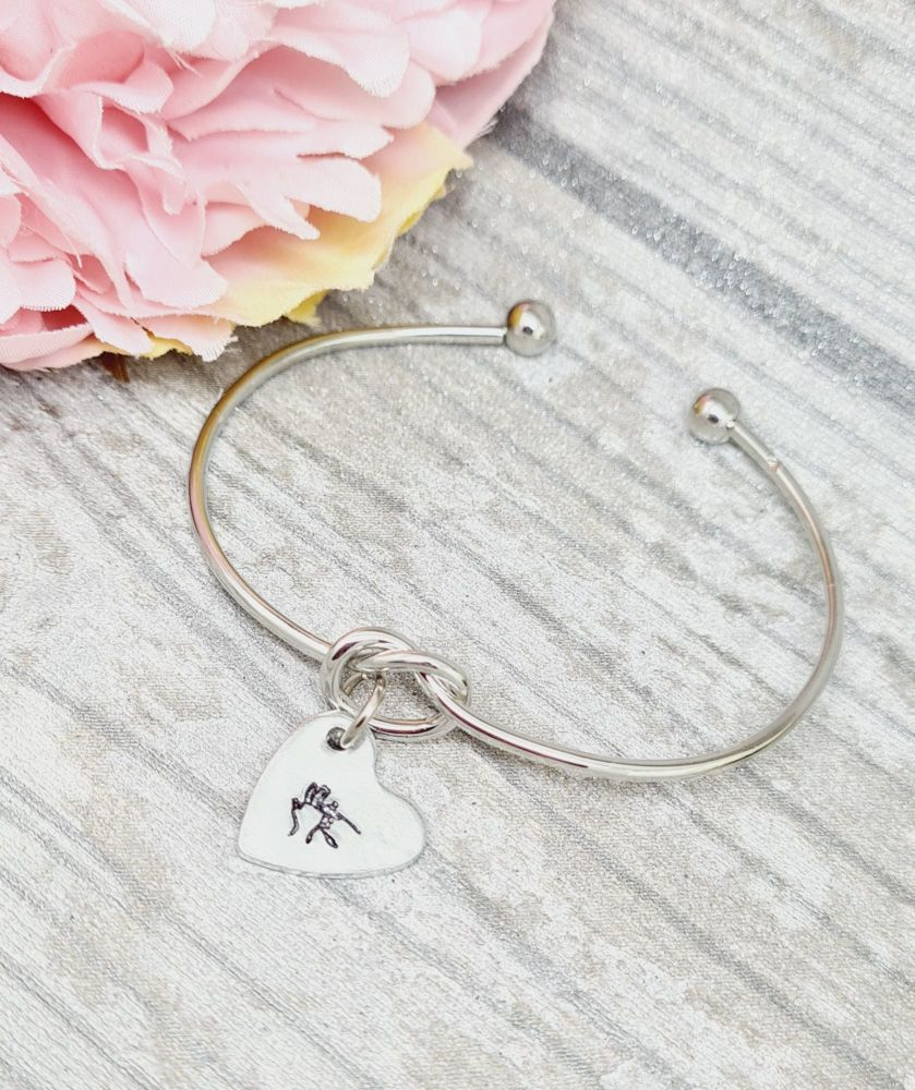 BSL Knot Bangle initial - OFFER
