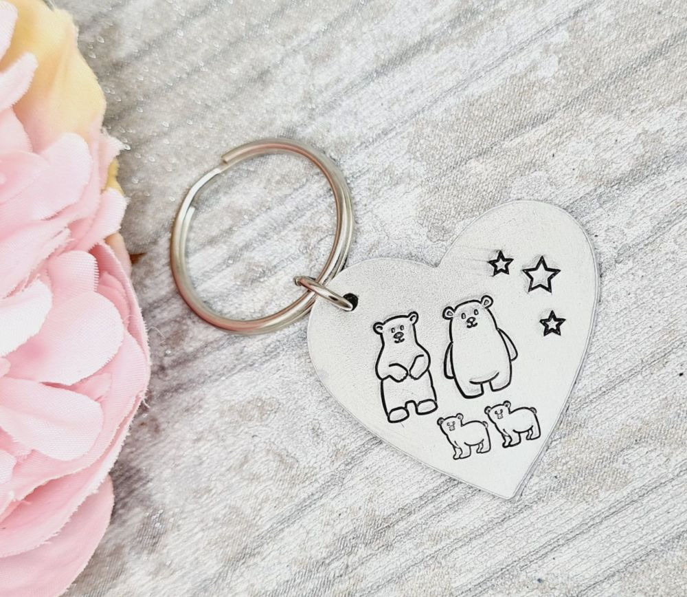 Bear Family Keyring - Fiver Friday 06/11