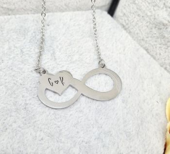 Infinity Heart Necklace - Stainless Steel