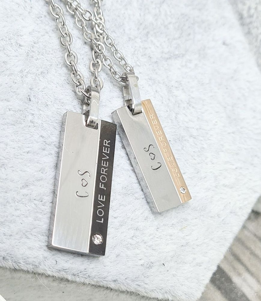 Love Forever - Personalised His & Hers Chains
