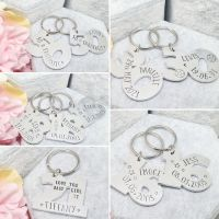 Number Shaped Keyrings - Personalised to suit