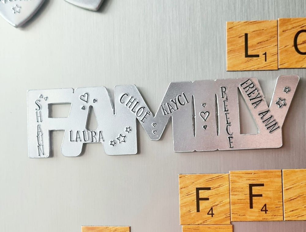 Word Magnets - Personalised with Names - Choose from Family, Mum, Dad, Mumm