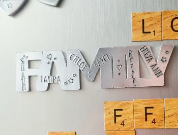 Word Magnets - Personalised with Names - Choose from Family, Mum, Dad, Mummy, Daddy ...
