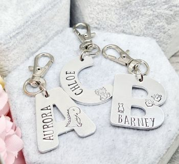 Letter Bagtag - Personalised with name & designs