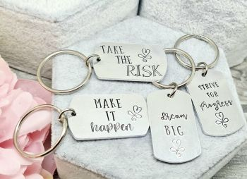 Inspirational Quote Keyrings