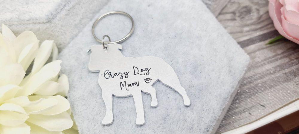 Crazy Dog Mum Keyring - 39+ Breeds available! **FIVER FRIDAY 12/03**