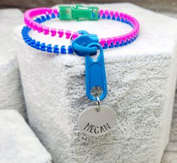 Personalised Zipper Bracelet - Fidget Bracelet