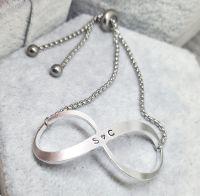 Personalised Infinity Bracelet - Slider Bracelet