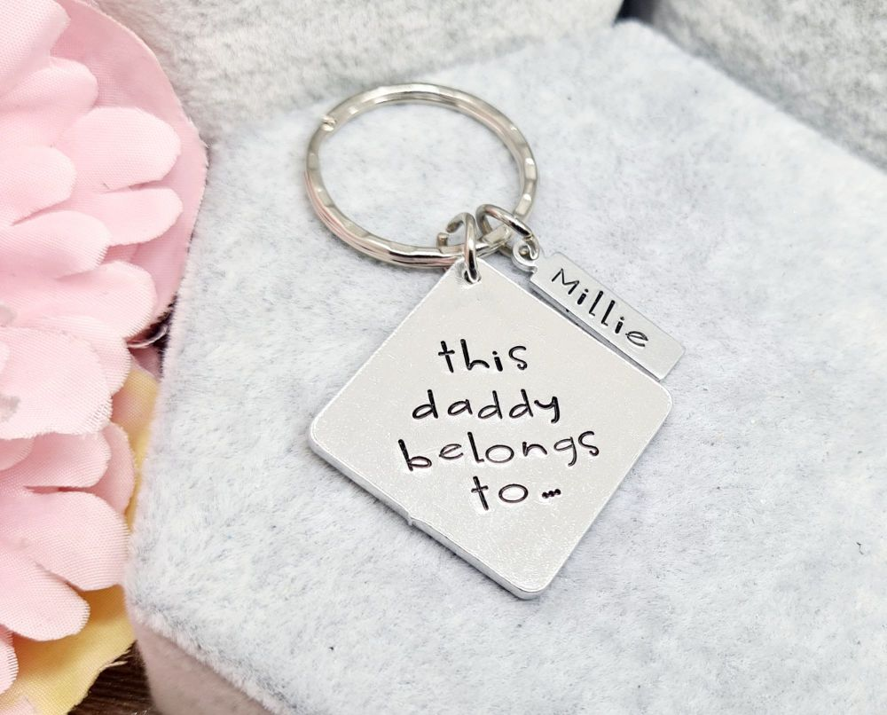 This ... belongs to.. (Square) Keyring ***FIVER FRIDAY***