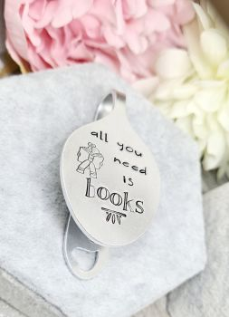 Spoon Style Bookmark - All you need is books (with boy/girl reader)