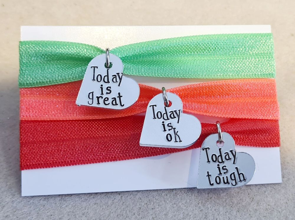 Traffic Light Emotion Bracelets - Set of 3