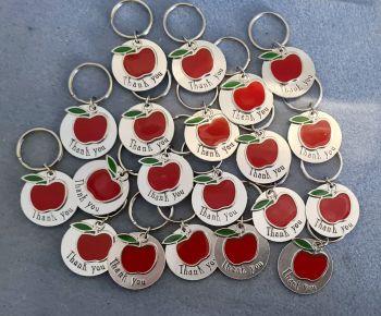 Thank You - Apple Keyrings - Teacher/TA Gifts