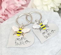 """BSL """" Be You """" - Bee Keyring - Gold or Silver - Limited Edition!"""