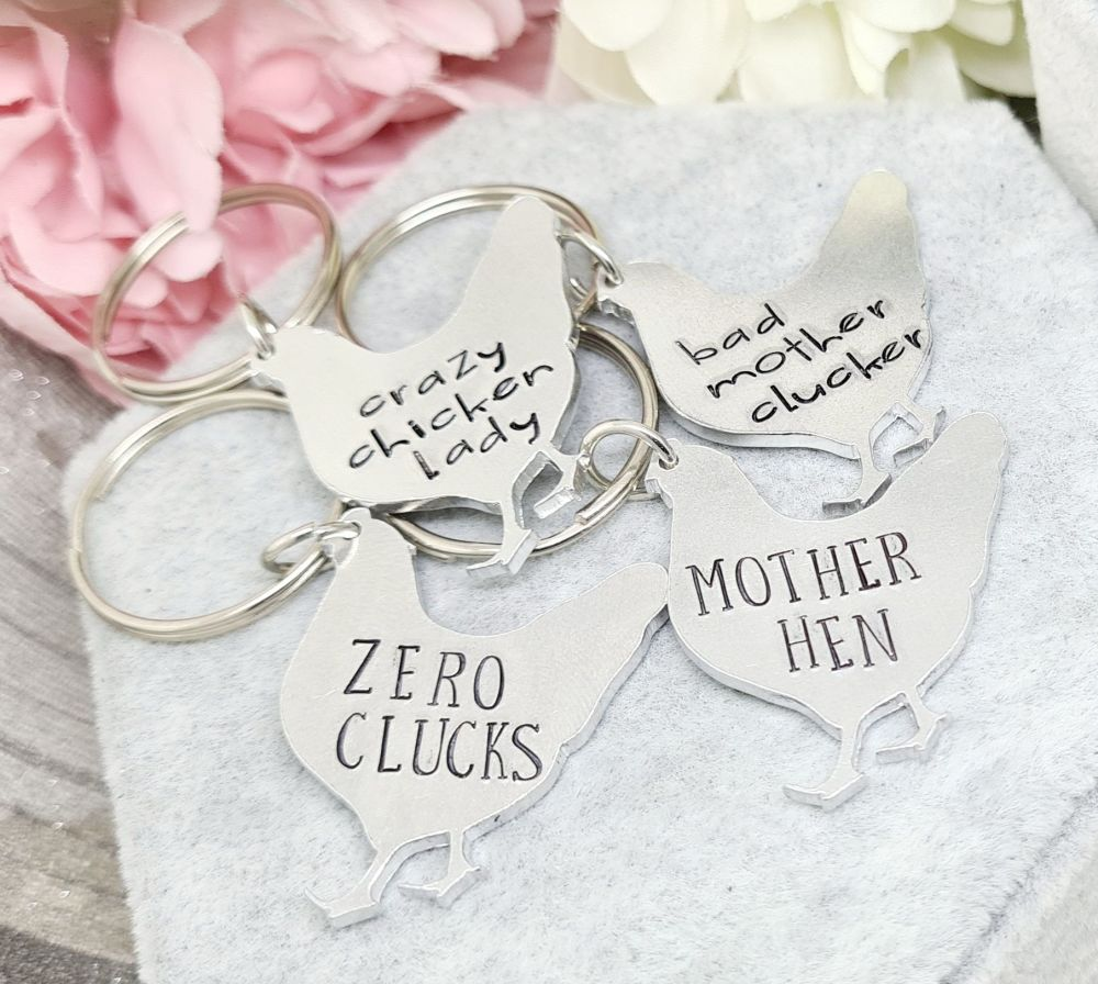 Chicken Keyrings - 4 designs to choose from