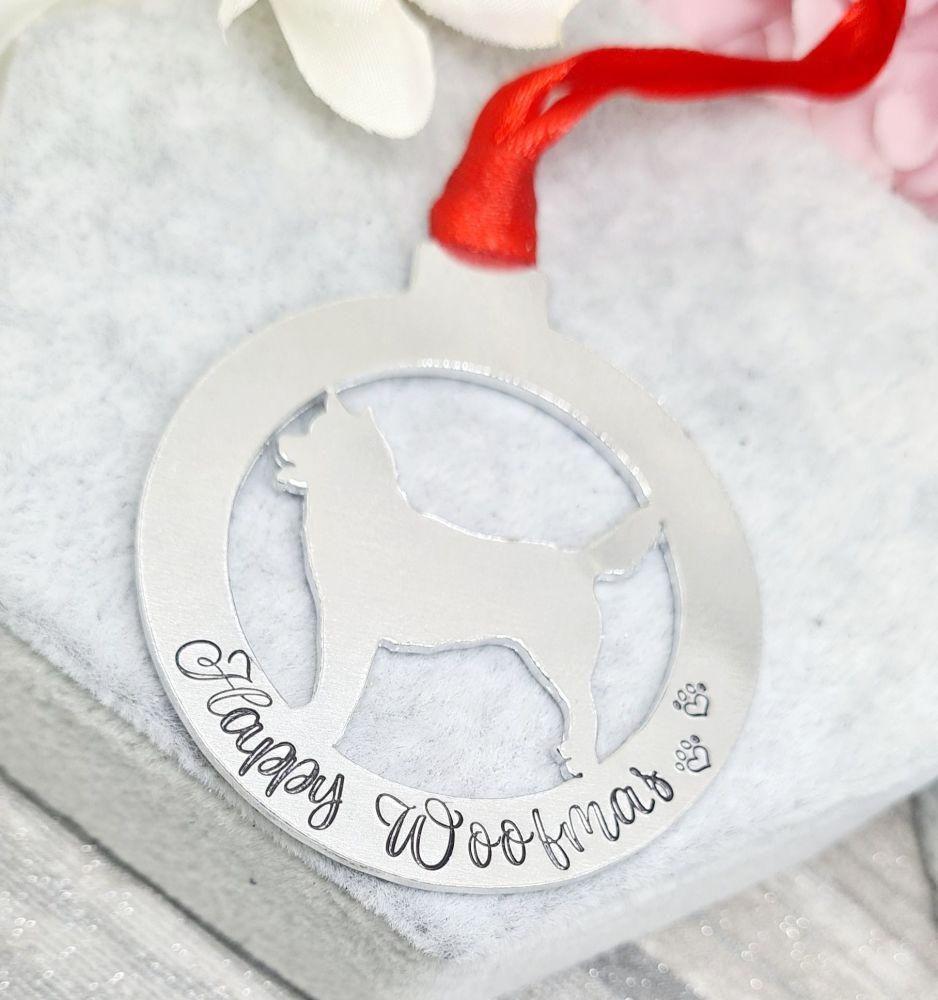 Happy Woofmas - Husky Decoration - 8 Below Charity Decoration.