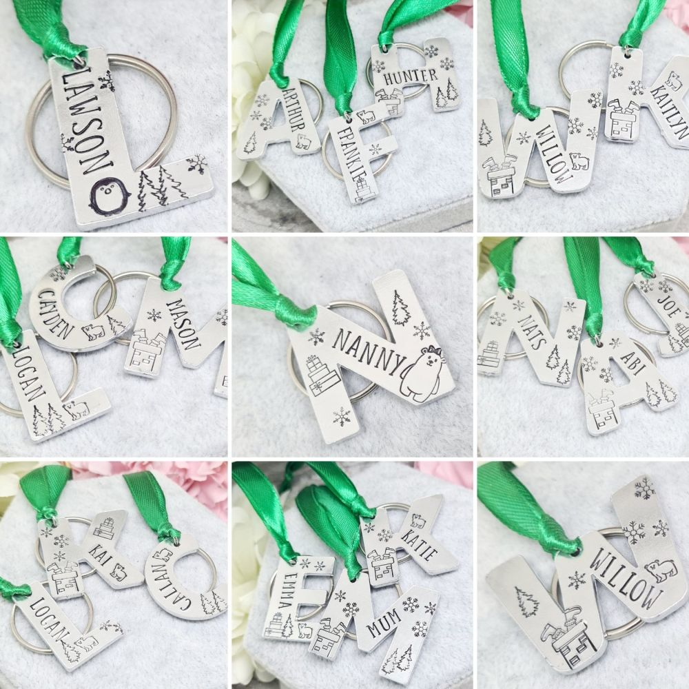 3-In-1 Christmas Letter Tag, Decoration & Keyring