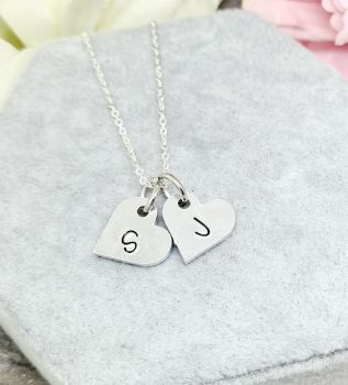 Heart Letter Necklace - Personalised monogram necklace