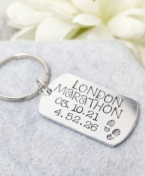 London Marathon Keepsake Time Keyring