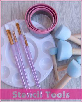 Sugar Vanilla Stencils Tools