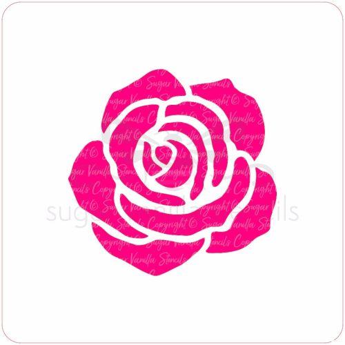 Rose Cupcake Stencil