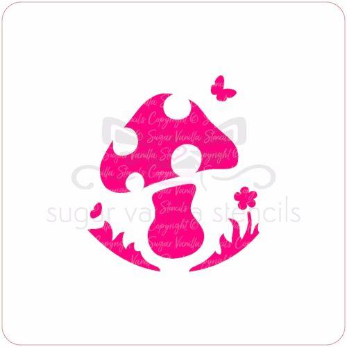 Mushroom Cupcake Stencil
