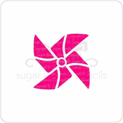 Pinwheel Cupcake Stencil