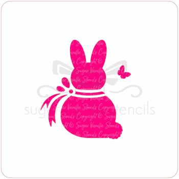 Bunny Bow Cupcake Stencil