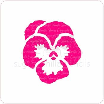 Pansy Cupcake Stencil